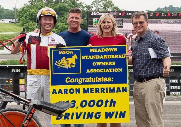 Aaron Merriman remporte sa 13 00e victoire en carrière à The Meadows