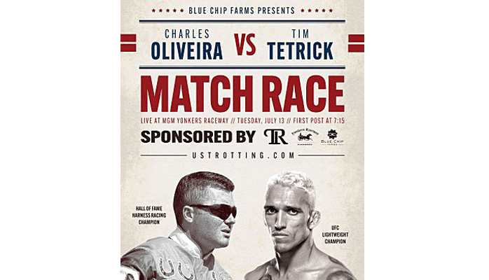 Tetrick attend avec impatience le « match-race » contre Charles Oliveira à Yonkers